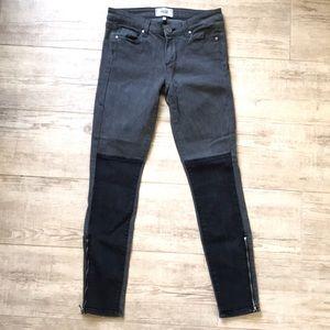 Paige Moto grey black skinny jeans sz 27